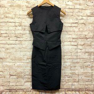 Banana Republic Monogram Dress Size 0 Sheath Black